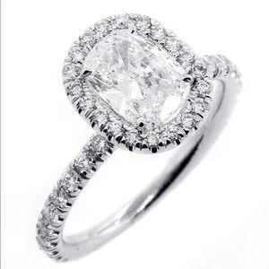 Jewelry - 14k white gold engagement halo ring wedding